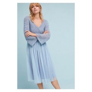 Maeve by Anthropologie Tulle Dress w/ Wrap Sweater